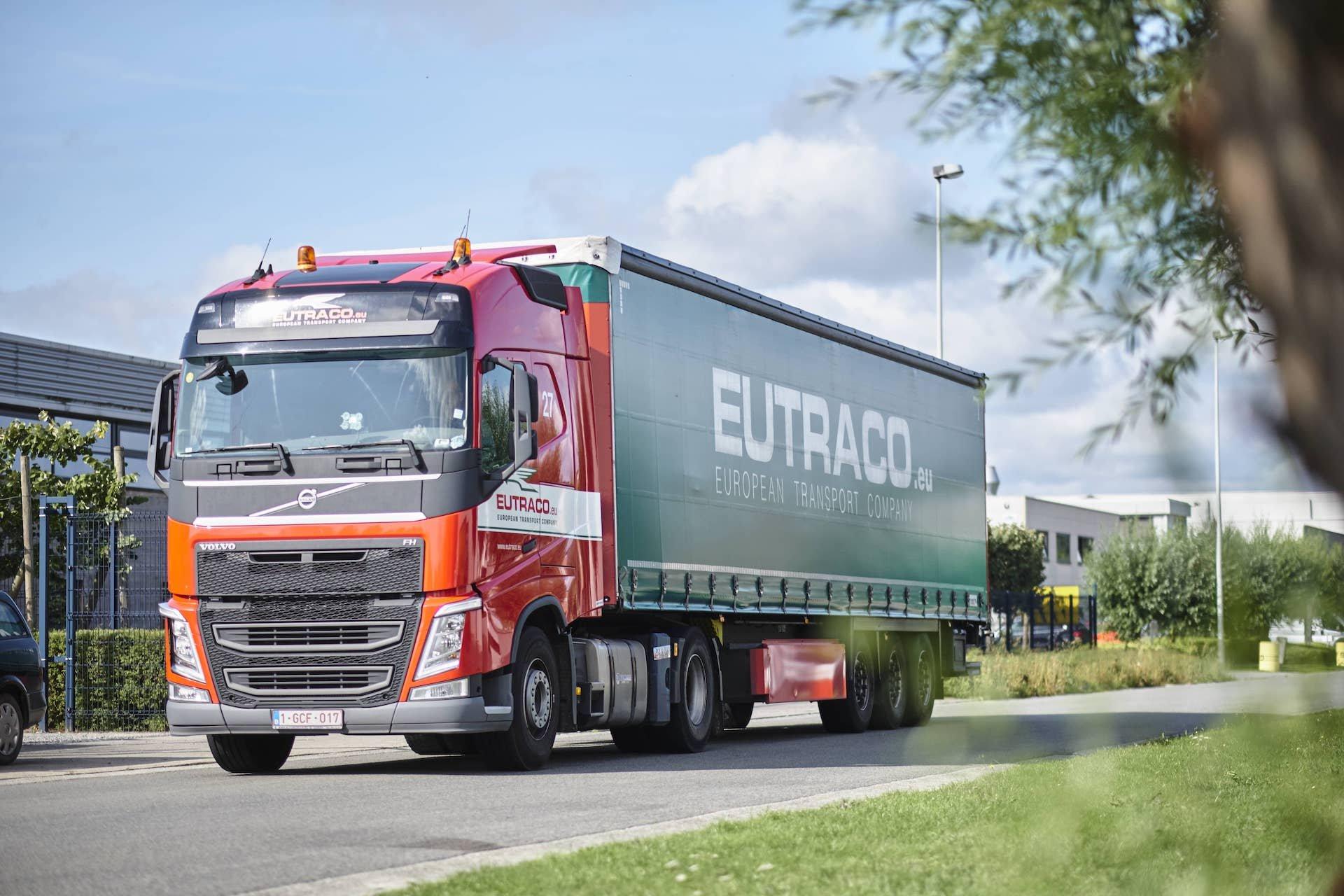 Truck van het transport- en logistiek bedrijf, Eutraco