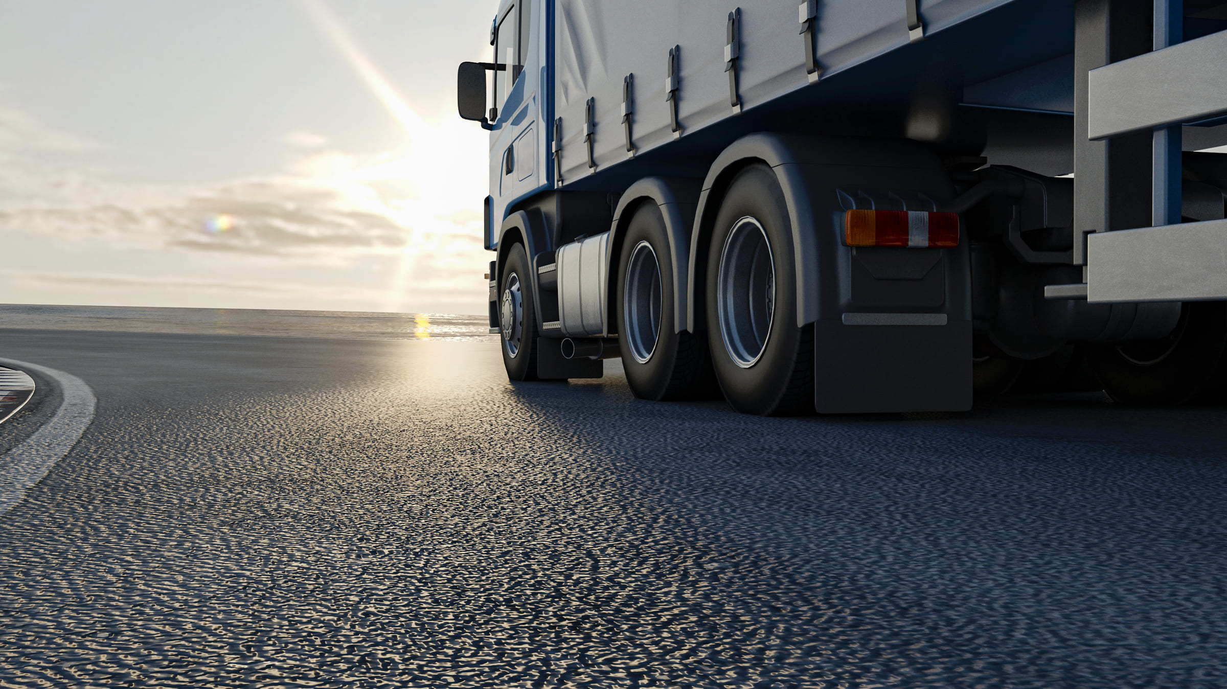 Eutraco vrachtwagen op de weg