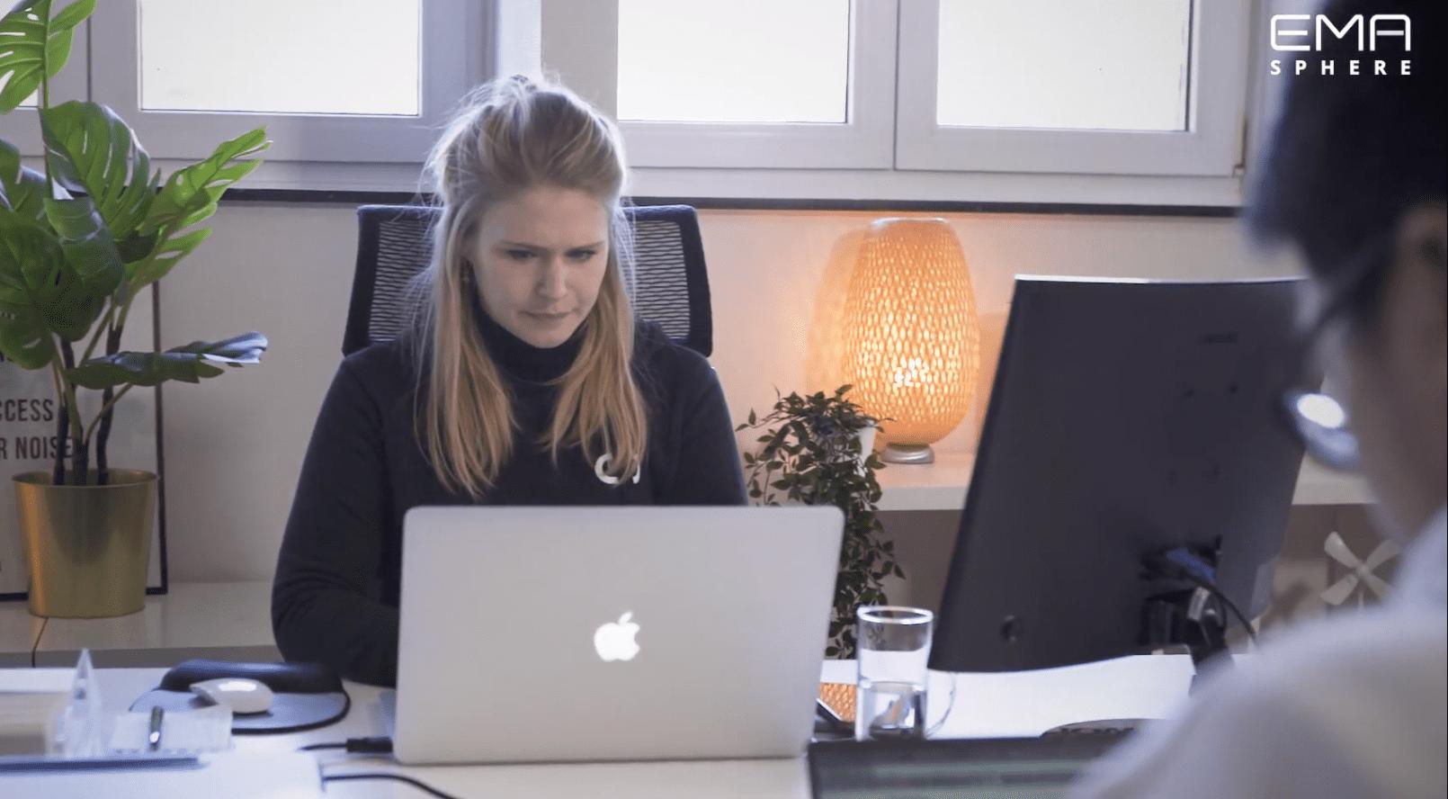 Sophie Verhulst co-ceo van Utopix gebruikt EMAsphere