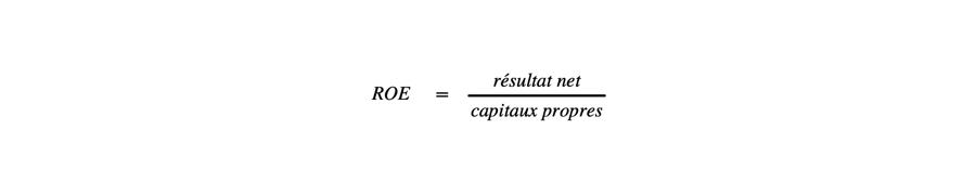Calcul du ROE dans le cadre de l'analyse financière