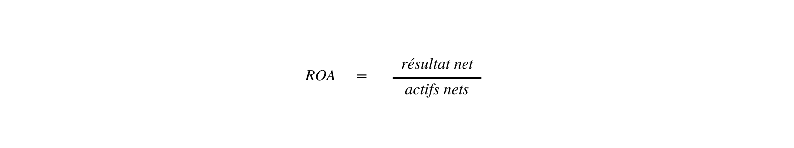 Calcul du ROA dans le cadre de l'analyse financière de l'entreprise