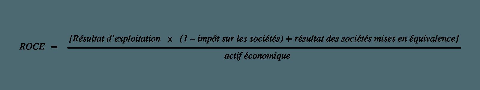 Calcul du ROCE dans le cadre de l'analyse financière de l'entreprise