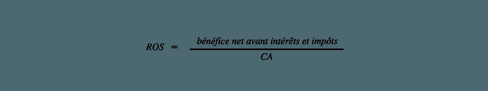 Calcul du ROS dans le cadre de l'analyse financière de l'entreprise