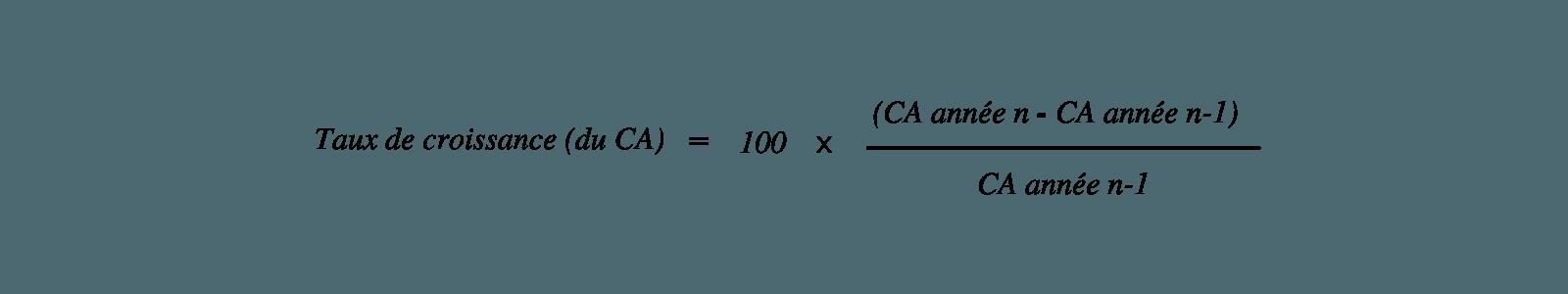 Calcul du taux de croissance dans le cadre de l'analyse financière de l'entreprise